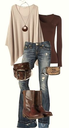fall style....  (Not loving the jean style or cuff bracelet - otherwise very cute!)