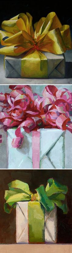 present paintings. Karen Appleton. I wish I could give something this beautiful.