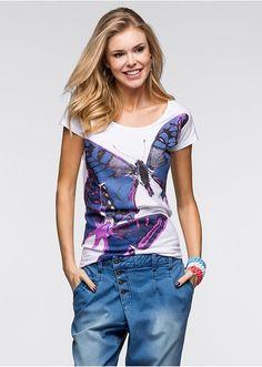 Tričko S peknou potlačou motýľa vpredu • 8.99 € • Bon prix
