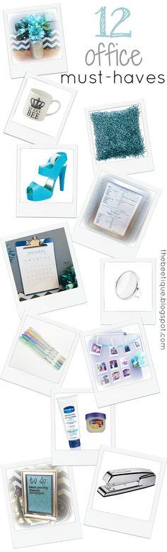 12 Office Must-Haves! love cubicle decor desk glam via thebeetique.blogspot.com