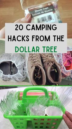 These Dollar Tree items may have been made for one thing but campers have also found a way to use them for their camping trips. Check out these helpful tips! #camping #dollarstore #summer #organization #trips
