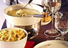 Käse Fondue mit Pesto alla Genovese
