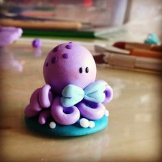 Little baby octopus by Valefatina on deviantART #FIMO #Octopus #Cute #Kawaii