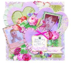 Project Center - Anna Griffin: Kiss Kiss 12 x 12 Layout