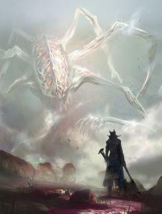 Dark Artwork, Cool Artwork, Arte Horror, Horror Art, Fantasy Creatures, Mythical Creatures, Sif Dark Souls, Cthulhu Art, Character Art