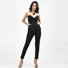 a2d29fe2d15 Rompers Womens Jumpsuit White Black Slim Pants Bodysuit Sleeveless  Strapless Women Jumpsuits macacao feminino overalls 92932 Buy from  china Rompers Womens ...