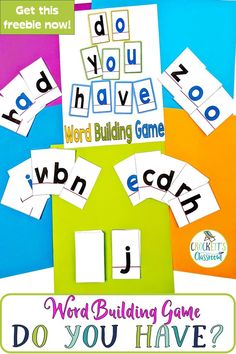 I know it might sound like a dream, but you really can get four different word building activities with just one prep. Oo Words, Word Games For Kids, Third Grade, Fourth Grade, Classroom Organization, Classroom Ideas, Word Building, Spelling Activities, Different Words