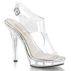 Fabulicious LIP-107 Clear Sling Back Sandals