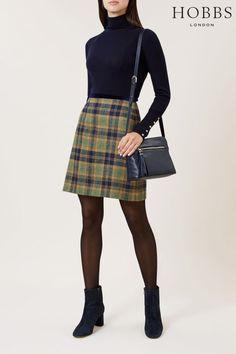 Womens Hobbs Saffron Multi Margot Skirt - Yellow