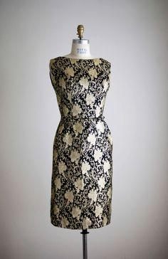 1960s GOLDEN GIRL brocade cocktail dress