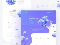 cloud services homepage - Przemysław Bacia  #designer #top #landingpage #brandidentity #brand #design #uiux #ui #ux #inspiration #web #dribbble #behance #website #uidesign #uxdesign #graphicdesign #trending #entrepreneur #colors #concept #illustrator #uzersco #typography  #app #mobile #colorful
