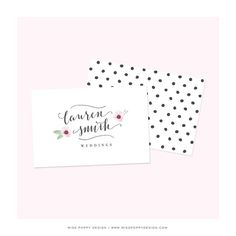 Have you checked out the logo designs in the shop lately?  lots of pretty typefaces and flowers #misspoppydesign #logodesign #branddesign