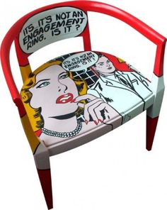 Are you a fan of the pop art movement? Pop art culture is very inspirational for the designers. Just one piece of furniture inspired by pop art can make