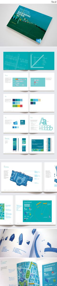 Brighton pedestrian wayfinding & signage design Guidelines by fwdesign.  www.fwdesign.com  #guidelines #graphics #layout