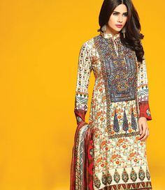 Rajbari Premium Fall Winter Linen Collection 2015 RB_05A