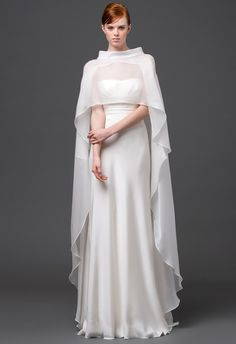 modern wedding gown from Alberta Ferretti Spring 2015. This is actually... Quite nice :)