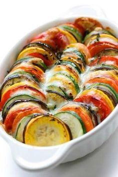 Eggplant and Zucchini Gratin by Julia Child - (Free Recipe below)