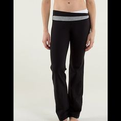 NWT Lululemon Astro pant Lululemon Astro pant in Full-On Luon; great weight to the fabric. Size 4R with an asymmetrical waistband featuring white and coordinating herringbone. Never worn. lululemon athletica Pants