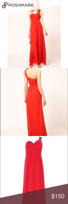 💥NWT💥Ted Baker Orange Red Silk Gown Ted Baker silk evening gown in a beautiful, vibrant orange red. NWT! Dress is U.K. Size 2 which is a US size 6. My own pics coming soon. Ted Baker Dresses Maxi