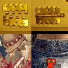 Loose pin/hinge type closure Reproduction top 15th century artistic examples bottom