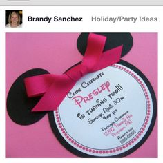 Minnie Invitations! Seriously poor alanna no pinterest when she was 1 @KD Eustaquio Stacy