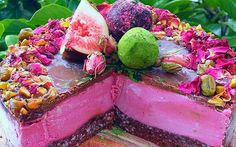 Raw Vegan Turkish Delight Cheesecake from Whole Food Nutritionista
