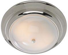 Clayton Chrome with Opal Glass Flush Mount Ceiling Light - #EU84397 - Euro Style Lighting