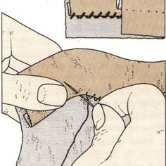 Costura a mano, Punto de dobladillo