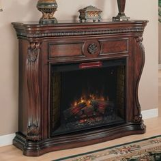 Fredricksburg 70-in Pine Media Electric Fireplace 37-104-023-9-29