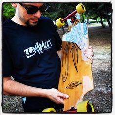 "ORIGIN 39"" Pure freestyle @entropyrez @hawgswheels @paristruckco #mamutapparel #handmade #longboard #tshirt"