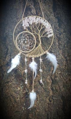 Rose Quartz Tree Of Life Dream by PrettyThingz4UByMe on Etsy