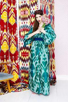 Узбекский икат в коллекции российского бренда Vikiliberman. Фото №1