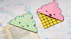 DIY Icecream bookmark corners | Back to school supplies | Paper crafts | Summer crafts | Origami