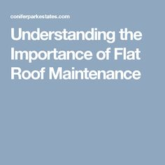 Understanding the Importance of Flat Roof Maintenance