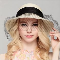 White straw hat for women bow decoration UV package