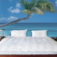 'Ocean Breeze' Decorative Wall Mural - 2...cant decide if tacky or awesome.....
