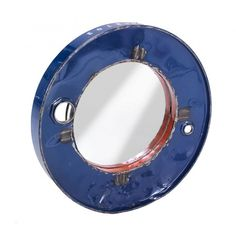 Outdoor Garden Recycled Steel Round Mirrors in Nautical Convex Style Portholes Recycled Mirrors, Garden Mirrors, Oil Drum, Vintage Mirrors, Mirror Wall Art, Stamford, Centre Pieces, Round Mirrors, Different Colors