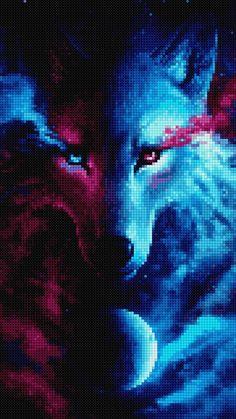 Cross Stitch Art, Cross Stitching, Cross Stitch Patterns, Minecraft Stuff, Diamond Art, Rug Making, Wolves, Beading Patterns, Pixel Art