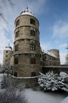 Wewelsburg castle in winter