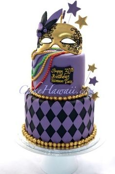 Mardigras Theme Birthday Cake Hawaii Wedding Cakes Mardi Gras Cupcake