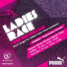 Don't forget to collect your race numbers for the Durban event. #TSrun #TSrunpink #IRunBecause #running