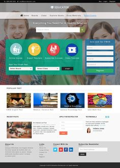 education website layout