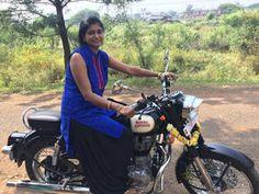 indian lady riding bike 392 - IndiaGirlsOnBike - Women Empowerment Of India