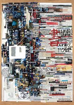 """""""Media Less Words,"""" 2007, 42in x 60 in, paper on paper, by Tm Gratkowski. Photo Courtesy of: Tm Gratkowski."""