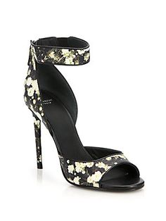Givenchy Baby's Breath Printed Leather Sandals