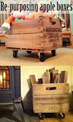 How to re-purpose apple boxes