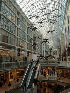 TorontoEatonCentre - Michael Snow - Wikipedia Canada Eh, Toronto Canada, Canada Goose, Famous Contemporary Artists, Eaton Centre, Queen Street West, Yonge Street, Downtown Toronto, Canadian Artists
