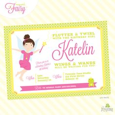 Fairy Birthday Party Invitation