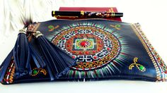 Leather Travel Document Wallet Hand painted travel от ArtPointRu