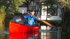 Pizza delivery via canoe is the only way to get your takeout